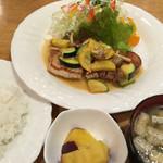 織互留 - 料理写真:ポークソテーセット(コーヒー付き)1,250円