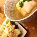 55497382 - だし巻玉子(280円)+アンチョビポテトサラダ(380円)