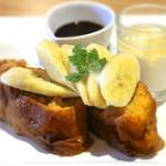 ダンスキューブ・カフェ - フレンチトースト バナナ