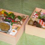 福来寿司 - 料理写真:すべて手作り!福来寿司の特製御節二段重