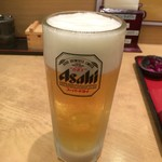 そば処けん徳 - 2016年09月01日  生ビール 中 390円