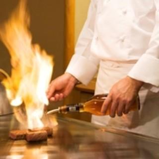 こだわりの食材とシェフの技が愉しめる鉄板焼カウンター
