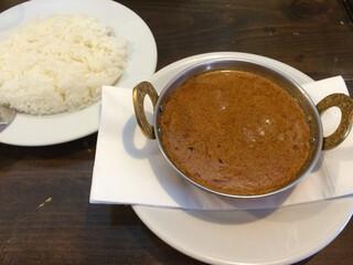 ネパリコ - マトンカレーセット(^^)シンプルにたっぷりカレーを味わうのもいい♪