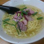 麺屋 玲 - のどぐろ煮干塩ラーメン(平打麺)