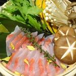 鮮魚個室居酒屋 潮蔵 所沢プロぺ通り店 - 金目鯛のせいろ蒸し鍋