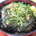 井里絵 - 鯵のぶったたき丼(アップ)