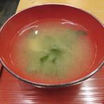 soto - 豚しゃぶ定食:豚しゃぶ、十六穀米のご飯、小鉢2種(じゃこ豆腐、切り干し大根)、お漬物、わかめの味噌汁8