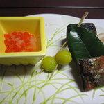 5558747 - いくらと銀杏と焼き魚