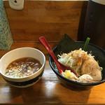 つけ麺 しろぼし - 醤油炊き 辛味しろぼし つけ麺('16/09/02)
