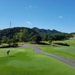 55586909 - 二階から見たゴルフ場