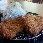 55587057 - ロースとんカツ定食w@¥1250