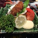魚家 - 岩牡蠣のフライ【サービスランチ】