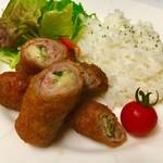 ZERO - 豚肉の梅しそチーズ巻ランチ1200