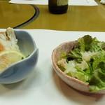 南鴨宮甲羅本店 - コースの前菜