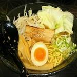 つけ麺 白虎 - 魚介豚骨らーめん  野菜トッピング(クーポン)