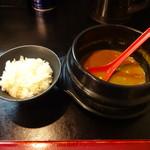 麺家 八兵衛 - 〆の小ライス これで雑炊風にして食べる