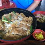 国境食堂 - カツ丼(大)ミニうどん付き 1270円税別