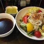 ぶしもりや めんめん - サラダつけ麺(税込880円、夏季限定と思います)