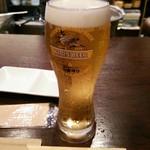 生ビールとたこ焼きのお店 佐藤 - 生ビール(大) 700円