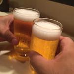 和風もつ料理 あらた - ビールで乾杯!