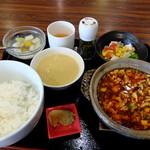 55613763 - 麻婆飯セット 1188円 (16年8月)