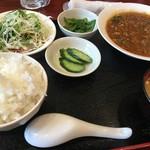 ごちそう処 きむら - 日替わりランチ「マーボー春雨定食」(税込700円)