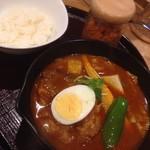 スープカレー 米KURA - レッドホットトマトチキンカレー