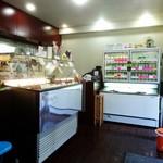 スペールフルッタ - アイスの冷凍庫。