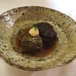おにく 花柳 - 和牛の土佐煮、絹皮茄子