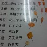 串カツさくら - メニュー