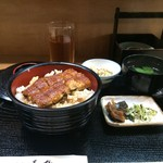 青柳 - お昼の鰻丼セット(2016.9.3)