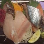 雅流天晴 - 上段左よりボラ・鰆・秋刀魚・秋鮭 下段左よりコロダイ・ニザダイ
