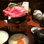 55624973 - 黒毛和牛すき焼き定食