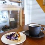 コーヒー ハット - マンデリン、ブルーベリーのタルト