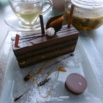 55626293 - 定番チョコケーキとミルクチョコのショコラ16.9