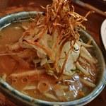 鶉 - 味噌つけ麺