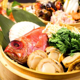 高級食材《金目鯛の鍋》は当店料理長の自信作!