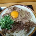 セルフうどん ふじい - かまたま肉 中 (730円)