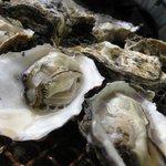 かきの里 - 牡蠣の焼き上がり