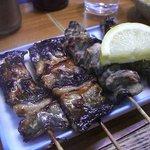 たち木 - 鰻の短冊と牡蠣