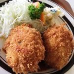 レストラン高砂 - カニクリームコロッケ♪