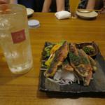 ハイサイうる虎 - 瑞泉ソーダ割り 30/グルクンの唐揚げ