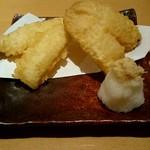 日本そば あけの蕎 - 『キスの天ぷら』¥450-