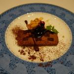Restaurant  LA FUENTE - 2016.09 デザート:チョコケーキ