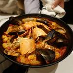 Restaurant  LA FUENTE - 2016.09 パエリヤ:オマールエビと魚貝類のパエリヤ