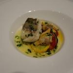 Restaurant  LA FUENTE - 2016.09 タラ:タラとあさりのサルサ・ヴェルデ、バスク風