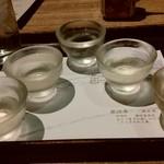 Sakanarobataumiza - きき酒セット980円??