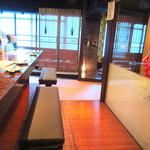 男前料理と五島列島直送の魚 神楽坂はずれ 無花果 - カウンターは固定式の2名席。カップルには最適!男同士は…