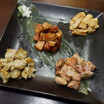 サキ ホール ヒビヤ バー - 塩麹香醸焼き 3点盛り、香醸焼き帆立