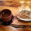 五稜庵 - 料理写真:そば茶と揚げ蕎麦